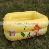 High quality inflatable pool baby bathtub swimming basin clear plastic inflatable kid's bath tube