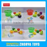 5 style pretend play kitchen kits kids toys artificial plastic bucket vegatable and fruit set