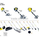multi function graden tools,mower,tiller,trimmer,olive harvester,pole pruner,grass cutter,extention bar,fruiter shaker
