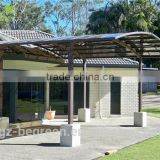 white metal frame aluminum frame carport with polycarbonate sheet,car parking canopy,portable garage for two car parking