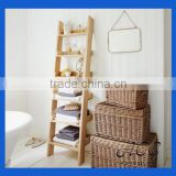 Oak Shelf Ladder Solid Wood Customization Storage Shelf