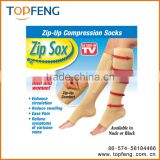 zip-up compression socks/Zip sox/miracle socks/compression knee high socks
