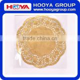 8PCS Dia. 30cm Golden Silver Round Disposable Greaseproof Lace Paper Doilies Cake Placemats for cookie dessert restaurant