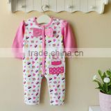 mom and bab 100% cotton baby clothes baby embroider sleepwear