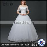 MGOO Elegant Custom Made White Crystal Wedding Dress Ball Gown Beach Bridal Dress Frock Style Tulle Designs Saree