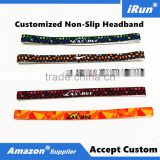 Slim Elasticated Headband No Slip Hairband Holds Your Hair Out of Your Face - Great For Jogging Running Volleyball Workout Yoga