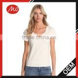 Woman basic design brand cotton t-shirts