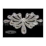 Silver Beaded Trims For Wedding Gowns , Bridal Trim By The Yard
