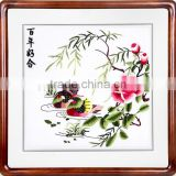 Computerized Embroidery Wall Decor for Home With Chinese Blessings