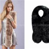 Women Faux Fur Scarf In Solid Colors Long Callor Scarves