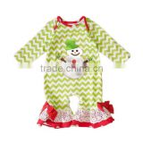 Yawoo high quality wholesale baby girls Christmas petti romper holiday wear party jumpsuit xmas kids festival bodysuit fashion