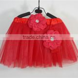 fashion red ballet tutu skirt dress for girl