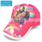 Cotton famous Cartoon Animation Cute Lovely Masha and Bear baseball sport caps hat for child kids girls gift