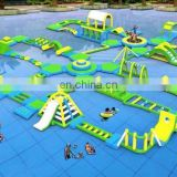 2017 new design giant inflatable water park, inflatable aqua playground, island for kids and adults