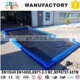 Air Sealed type inflatable car wash mat water collector boarding With Drain
