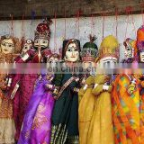 10 PAIR RAJASTHANI INDIAN BIG Puppets DECORATIVE HOME Decor Kathputli RARE Vintage DOLL COUPLE HOME DECOR ART Ethnic door hangin