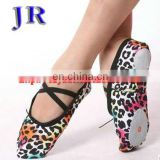 Colorful leopard ballet dance shoes X-8007#