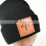China suppliers wholesale customized low MOQ cheap price 100% acrylic double sides knitted hat beanie
