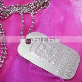 custom polishing finish blank metal aluminum round shaped knight dog tags