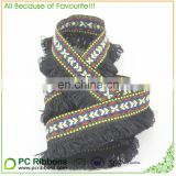 Hot sale Custom fringed cotton jacquard fabric