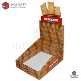 Recycle cardboard display box for crackers CDU-TRAY-025
