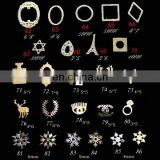 Popular in market 3d metal nail art decoration wholesale