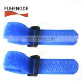 Wholesale hook and loop strap/nylon hook&loop band with plastic buckle