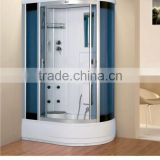 China manufacturer ABS tempered glass shower cubicle