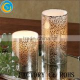 Gold Mercury Votive Candle Holder/ Floral Candle Holder/Glass Tealight For Wedding