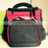"9"" PICNIC Lunch cooler Heavy duty water resistent Bags in Red and Black                                                                         Quality Choice"