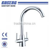 China Fashion And Simple Style Best Quality Faucet Double Handle Faucet Tube