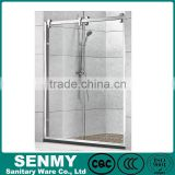 2 doors sliding adjustable 304 stainless steel frame double sliding guardian shower door parts
