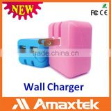 Reasonable Price Universal Wall Socket Dual USB Charger for Portable Charger, iphone Charger