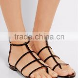 Catwalk Beautiful 2016 New Flat Leather Sandals For Women, Cage Stylish Lady Shoes
