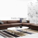 New classic home furniture for living room genuine leather sofa elegant wooden cofee tables