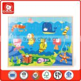 latest product of china 35 pcs sea animal design blue background polywood material good quality jigsaw puzzle price