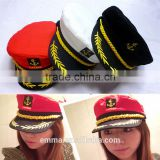 Unisex airline pilot hats with good quality for sale HT2028