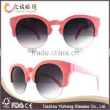 half rimless frame wooden sunglasses woman bamboo wooden sunglasses wholesale in china
