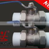 brass faucet or ball valve