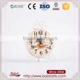 Cartoon birds pattern yellow color dial clock cast iron craft