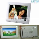 7 inch Lcd Screen Photo Frame Digital Video Player calendar/clock/alarm function