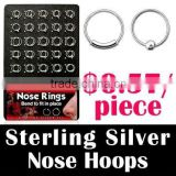 Silver Jewelry: Sterling Silver Nose Rings, Nose Hoops, Nose Studs, Nose pins, Nose Jewelry