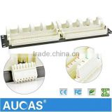 Telephone Voice Patch Panel, 2U Height 110 Block Patch Panel 19 inch 110 Type