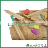 China style colorful bamboo rolling pin