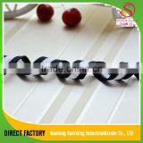 Eco-friendly black and white stripe polyester and nylon strap webbing for garment