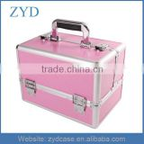 Medium Beauty Make up Nail Cosmetic/Salon Box Vanity Aluminium Case in Pink ZYD-HZ302