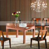 Mordern round extensible wooden dining table