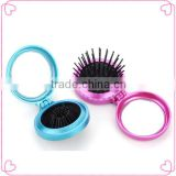 New private label foldable round travel hair brush/hair tools