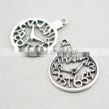 Custon jewelry zinc alloy Clock Pocket Watch Charms with numbers
