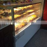 Guangzhou manufacturer refrigeration equipment pastry display refrigerator/bakery showcase/cake showcase for bakery store